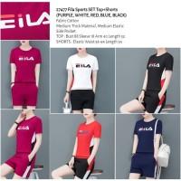 Setelan FILA Sport - Kaos + Shorts - 5 Pilihan Warna