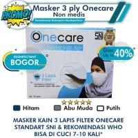 Masker 3 ply /masker kain onecare Non medis standart WHO