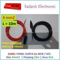 Sepasang Kabel 4 mm2 dari MC4 Panel Surya ke MCB / SCC L = 10 meter