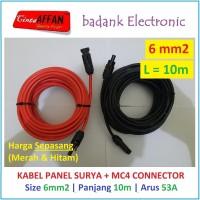 Kabel Solar Panel Surya 6 mm2 L = 10 meter dengan Konektor MC4