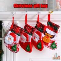 Natal ✅ Tas Gantung Bentuk Kaos Kaki Santa Claus untuk Dekorasi
