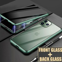 Magnetic Privacy Glass Case for iPhone 11 7 8 6 s Plus XR Case