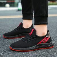 Sneakers Wanita Ulzzang Sepatu Sport Pria Warna Hitam Sepatu Running
