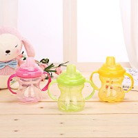Drinking Water Bottle 260ml Cute Baby Kids Spill-proof Sippy Cup