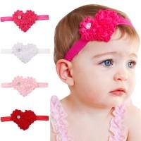 Pesta / Hadiah Bandana Bayi / Anak Perempuan Desain Hati Lucu untuk