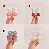 Baby Floor Socks Korean Kids Unisex Fashion Casual Cute Middle Tube