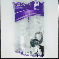 * Gelas Plastik Wayang 220 Ml 1 Pax Harga Termurah