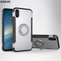 Car Magnetic Bracket Armor Case For iPhone 6 s 6S 7 7S iPhone 8 Plus