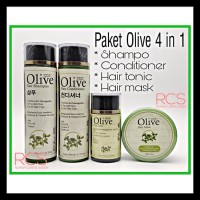 Syb Paket Olive 4 In 1 ~ Shampo + Condi + Tonic + Hair Mask