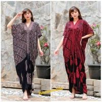 Long Kaftan Dress Batik Terusan Panjang Modern - Sgn Prg Doll