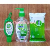 Paket Bundling Dettol Hand Sanitizer + Wet Wipes
