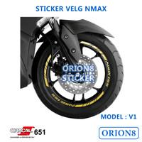 Sticker Velg Nmax Stiker Velg Nmax V1 Untuk Velg Hitam