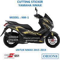 Cutting sticker yamaha nmax NM1 stiker variasi skotlet stripping NM1
