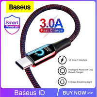 Baseus Auto Disconnect Data Cable 1.2 Support Fast Charging TYPE C - Hitam