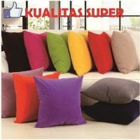 SARUNG BANTAL SOFA POLOS WARNA WARNI WATERPROOF ANTI AIR 50X50 CM