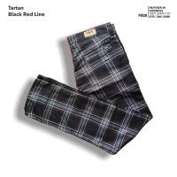 fruddy duddy - fddy - tartan - pants - Black Red Line