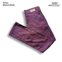 fruddy duddy - fddy - tartan - pants - Maroon Basic