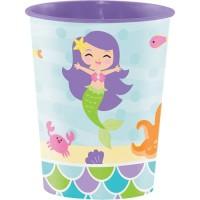 Gelas Kertas 16oz Tema Mermaid Friend - Perlengkapan Pesta Ulang Tahun