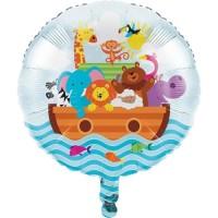 "Balon Foil 18"" Tema Noahs Ark - Perlengkapan Pesta Ulang Tahun"