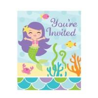 Kartu Undangan Tema Mermaid Friend - Pesta Ulang Tahun