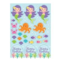 Sticker Tema Mermaid Friend - Perlengkapan Pesta Ulang Tahun