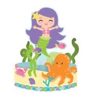 Centerpiece Tema Mermaid Friend - perlengkapan pesta ulang tahun