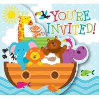 Kartu Undangan Tema Noahs Ark - Pesta Ulang Tahun