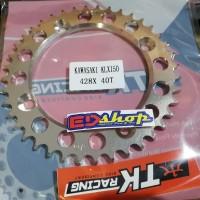 gear BELAKANG 40 T KLX TK RACING SUPERMOTO KLX150 DTRACKER D-TRAKER
