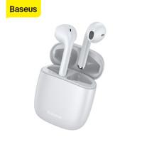 BASEUS TRUE WIRELESS BLUETOOTH EARPHONE MINI EARBUDS TWS W04 PRO V5.0 - standard putih