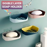 Tempat Sabun Kotak Sabun Minimalis Double Layer Soap Holder Box