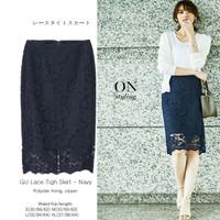 GU Lace Tigh Skirt Bawahan Rok Wanita Branded Murah