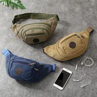 TAS SELEMPANG PRIA MULTIFUNGSI / WAIST BAG / BUMP BAG KANVAS SLETING