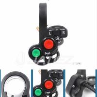Saklar Kiri Motor Universal On Off Switch Holder Lampu Sein Klakson Mo