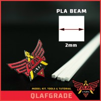 PLA BEAM SQUARE 2mm 2 mm - plastic pla plate kotak custom model kit
