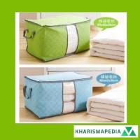 Bamboo Storage Box Bag Organizer Tempat Penyimpanan Baju Jumbo Pakaian