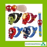 JAM TANGAN ANAK MURAH ROBOT SUPERHERO KARAKTER LUCU SUPER HERO