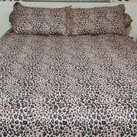 Leopard Lovers - Beding Set Warna Coklat UK 200X200 - Super King Size