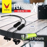 VYATTA FLYBOOM X II SPORT BLUETOOTH EARPHONE HEADSET 5.0 - MEGA BASS