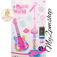 MAINAN ANAK SINGER STAR 2IN1 GUITAR MICROPHONE PLAYSET-KADO ULTAH