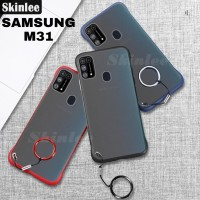 Softcase Transparan Samsung M31 Frameless - Biru
