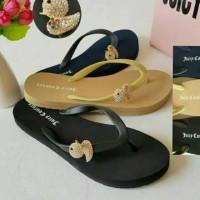 Sendal Jepit Wanita Juicy Couture Flat