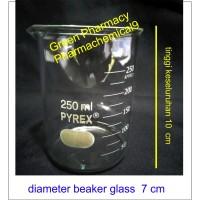 beaker glass gelas piala 250 ml cc pyrex