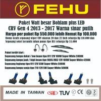 Paket watt besar bohlam plus LED CRV Gen 4 2013 - 2017 sinar putih