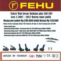 Paket watt besar bohlam plus LED CRV Gen 3 2007 2012 sinar putih