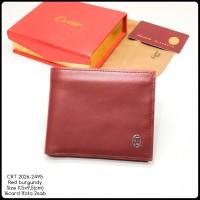 dompet pria CRT 2026-2495 red burgundy super premium quality import