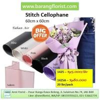 Stitch Cellophane (1425A) 20 lbr/pack, aksesorise toko bunga, kertas