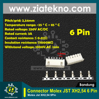 [ZIATEKNO] Header Molex JST XH2.54 Connector Molex - 6 Pin