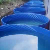 Terpal kolam bulat D1xT1 bahan Orchid semi karet
