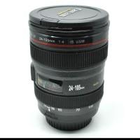 Mug Gelas unik Lensa Camera EF 24-105mm - 400ml - Black