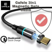 Cafele Premium LED Magnetic 3in1 Data Cable 1M 3A Quick Charging 3.0